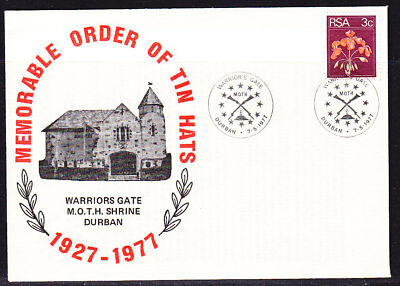 South Africa 1977 Order of the Tin Hats First Day Cover