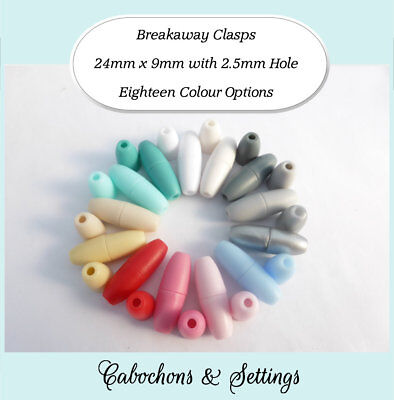 5 10 25 50 Sets Breakaway Clasps Safety for Necklace Lanyards 18 Colour Choices