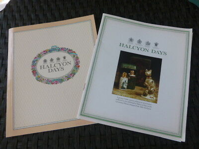 Halcyon Days 1989 / 1990 Collections Catalogs