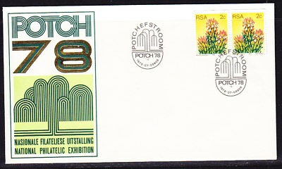 South Africa 1978  Philatelic Exhibition Potch First Day Cover