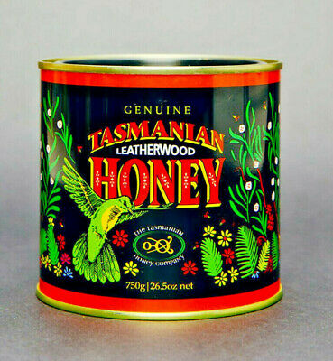 Tasmania's Finest Leatherwood Honey, 750gm tin, Export quality