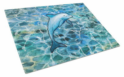 Carolines Treasures  BB5356LCB Dolphin Glass Cutting Board Large