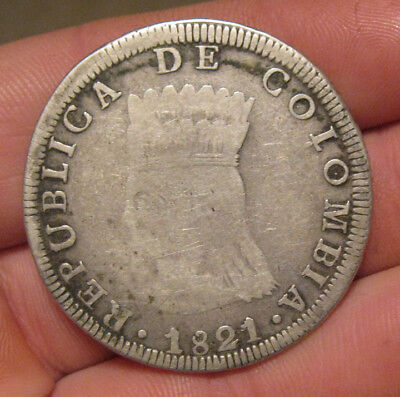 Colombia - 1821 Large Silver 8 Reales