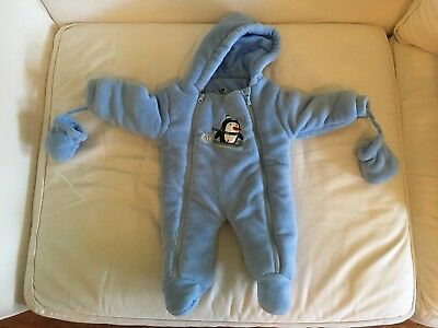 ce12a95d7 BABY BOY BLUE Snow Suit w  Attached Mittens - 6-9 months - Barely ...