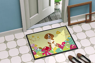 Easter Eggs Brittany Spaniel Indoor or Outdoor Mat 18x27
