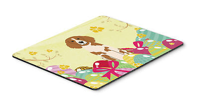 Easter Eggs Brittany Spaniel Mouse Pad, Hot Pad or Trivet