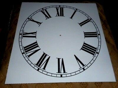 "Large Paper Clock Dial - 11"" M/T - Roman Numerals -White Matt-Face / Clock Parts"