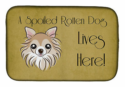 Carolines Treasures  BB1499DDM Chihuahua Spoiled Dog Lives Here Dish Drying Mat
