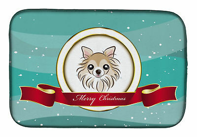 Carolines Treasures  BB1561DDM Chihuahua Merry Christmas Dish Drying Mat