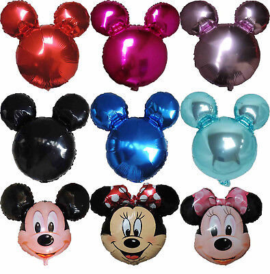 Mickey Mouse Minnie Mouse Head Balloon Birthday Baby Shower Party Supplies Decor