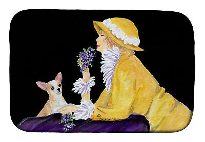 Carolines Treasures  SS8632DDM Chihuahua Dish Drying Mat