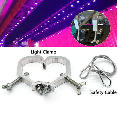 2x Stage Licht Hook Clamp Mount Clamp Mount + Cable fit 7R / 5R Moving Head Lamp