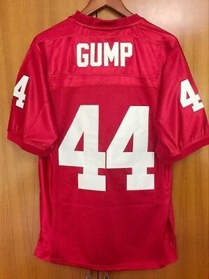 Forrest Gump #44 Football Jersey Stitched Tom Hanks Movie Mens Throwback Red