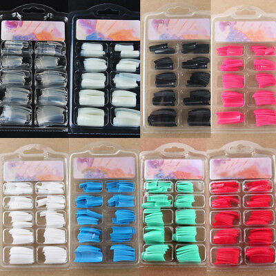 100pcs DIY GEL ACRILICO FRENCH NAIL ART COLORATI FRENCH TIPS FINTE UNGHIE faddi