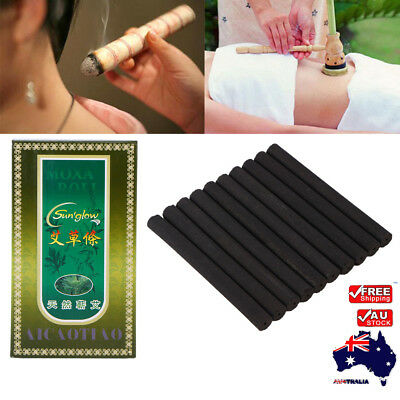 5 Years 10Pcs Old Traditional Moxa Roll Moxibustion Relieve Pain Burner Stick