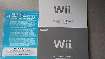 Nintendo Wii Operations Instruction Manuals & Quick Setup