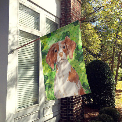 Brittany Spaniel St. Patrick's Flag Canvas House Size