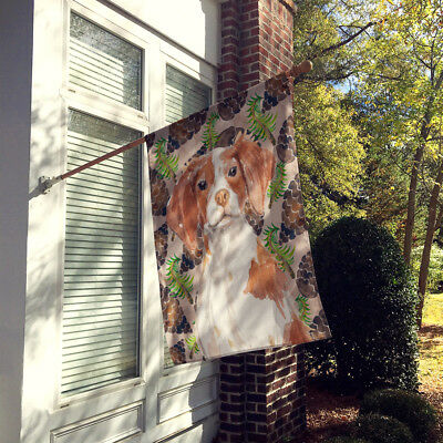 Brittany Spaniel Pine Cones Flag Canvas House Size
