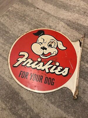 Friskies For Your Dog metal sign vintage 1960's