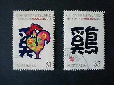 2017 - CHRISTMAS ISLAND - YEAR OF THE ROOSTER - Used Set