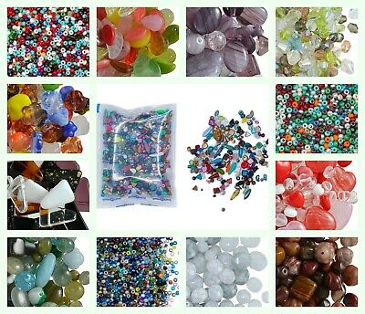 CHOOSE COLOR! 40gr Mix of Preciosa Beads Different Shapes Czech Pressed Glass