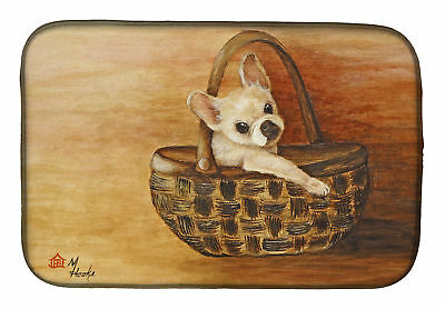 Carolines Treasures  MH1063DDM Chihuahua Take me TOO Dish Drying Mat