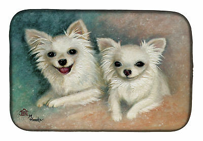 Carolines Treasures  MH1064DDM Chihuahua The Siblings Dish Drying Mat
