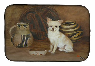 Carolines Treasures  MH1043DDM Chihuahua Ancient History Dish Drying Mat