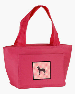 American Water Spaniel Checkerboard Pink Lunch Bag