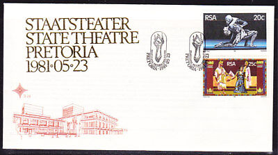 South Africa 1981 State Theatre  First Day Cover  #3.28