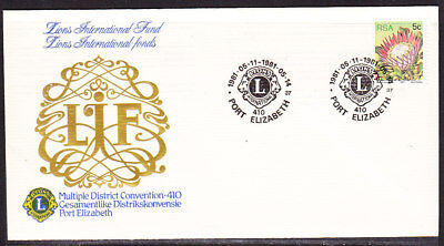 South Africa 1981 Lions Club Port Elizabeth First Day Cover