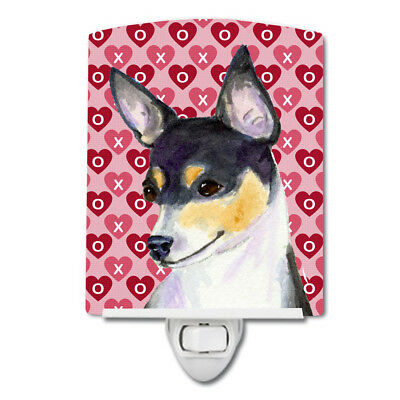 Chihuahua Hearts Love and Valentine's Day Portrait Ceramic Night Light