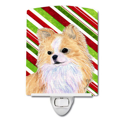 Chihuahua Candy Cane Holiday Christmas Ceramic Night Light