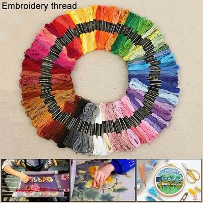50 Colors Mixed 8m cotton Cross Floss Stitch Thread Embroidery Sewing Skeins Set