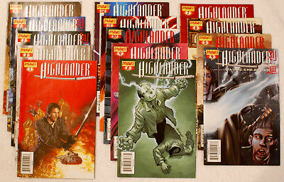 Dynamite Comics – lot of 14 - Highlander Way of the Sword 2006-2008 VF condition