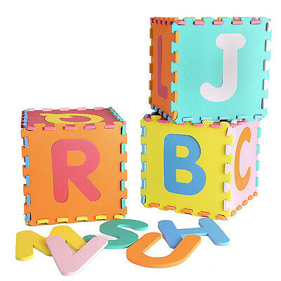 26PCS Large Alphabet Numbers EVA Floor Mat Baby Room Jigsaw Safety Play M Pro AU