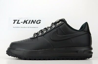 best loved 97eb8 01105 NIKE LUNAR AIR Force 1 Duckboot Low LF1 Black Boots AA1125 001 Msrp $140 CW