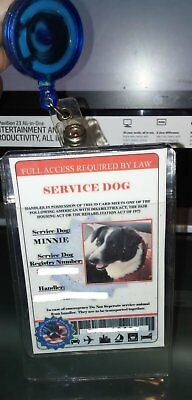 Service Dog Animal Id (Ada) Service Dog Id Card Customization