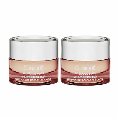 2 x 7ml Clinique All About Eyes Hydrating Cream Gel genuine Sample size no box