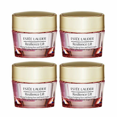 4x 15ml Estee Lauder Resilience Lift Firming Sculpting Face Neck Creme All Skin