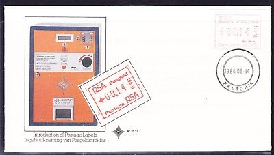 South Africa 1986 FRAMA Labels  First Day Cover #4.16.1