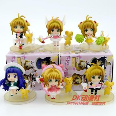 card captor sakura open eye set of 8pcs PVC figure figures anime doll action