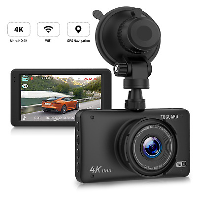 "TOGUARD GPS WiFi DashCam UHD 4K 3"" LCD Car Camera 170° DVR Recorder Video Camera"