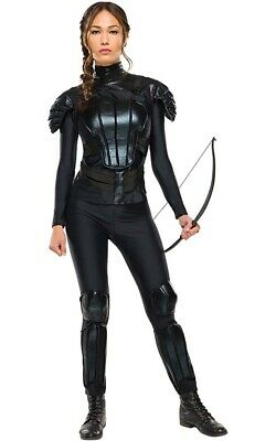 Licensed  Deluxe Katniss Hunger Games Adult Womens Fancy Dress Halloween Costume