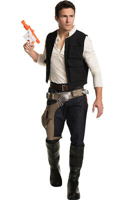 Licensed Grand Heritage Adult Han Solo Costume Mens Star Wars Halloween Costume