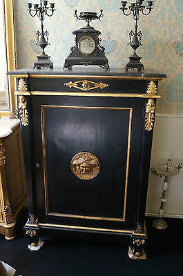 Gorgeous high chest of drawers antique style gold leafs decors from a castle