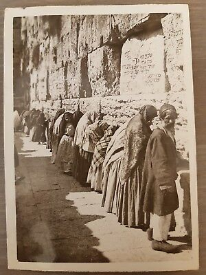 "RARE ANTIQUE JUDAICA Real Photo of ""WESTERN WALL"" JEWISH KOTEL PALESTINE c1900"