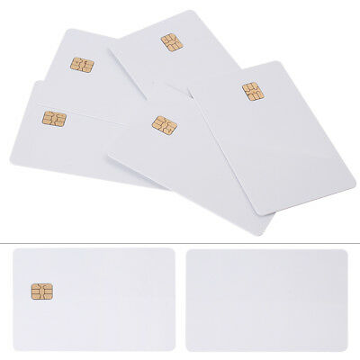 5PCS ISO PVC IC With SLE4442 Chip Blank Smart Card Contact IC Card Safety