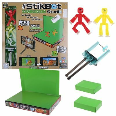 Stikbot Zanimation Studio Pro Two Figure Set - Stop Motion Animation App Toy HOT