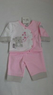 Premature preemie tiny baby girls clothes two piece set 3-8 lbs 1.4-3.6 kg